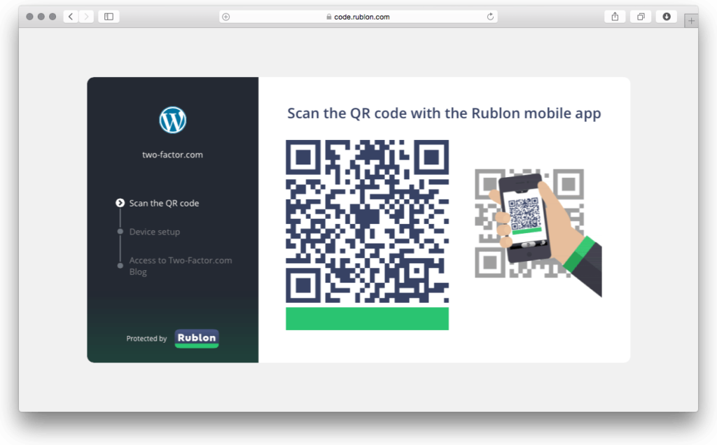 Rublon Two-Factor Authentication for WordPress