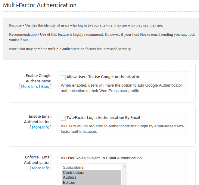 Shield Two-Factor Authentication for WordPress