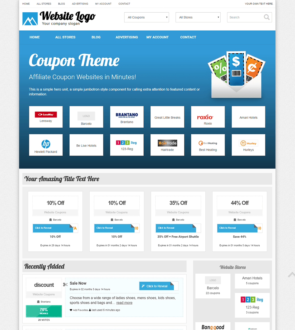 This will bring up the shortcode generator where you need to select Coupon Loop in the dropdown. You can also select the coupon category and align option. Once you are done, click the Insert Coupon button and Publish the page. That's all, we hope that this article helped you create a WordPress coupon website.