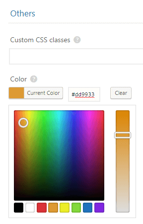 The Table color setting within the table creator.
