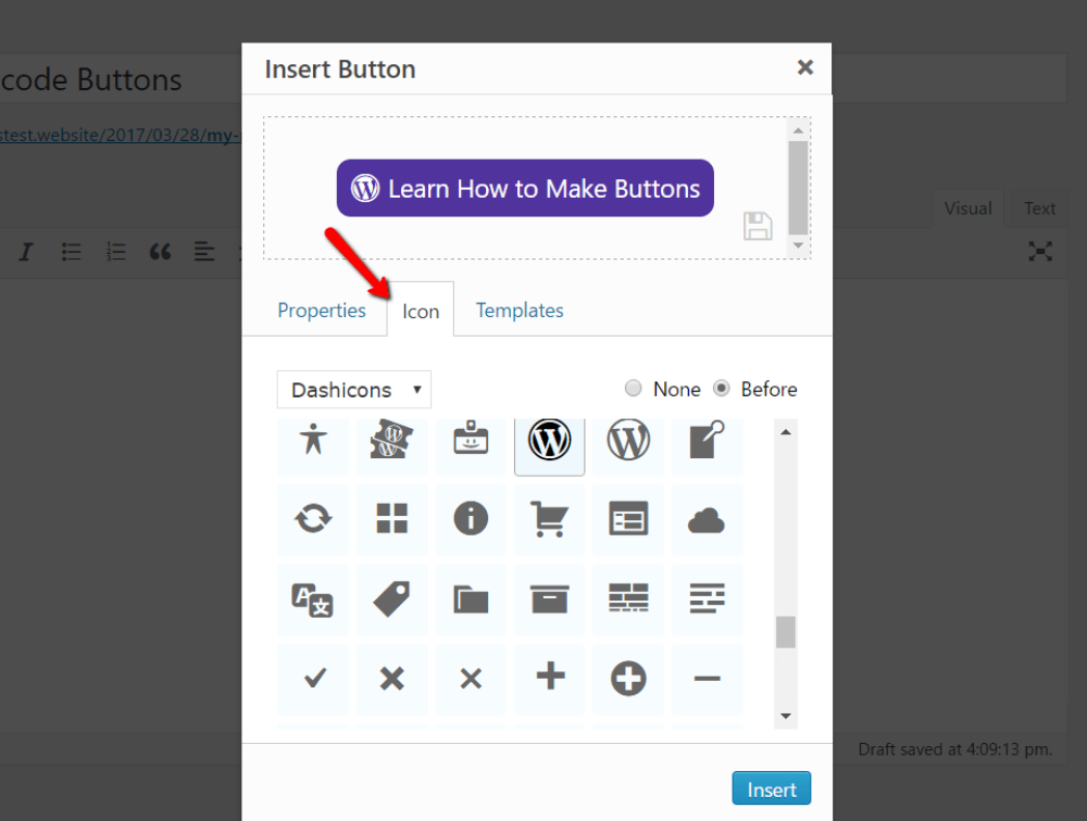 add icon to buttons