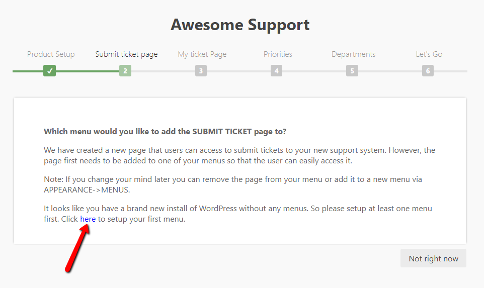 submit ticket page