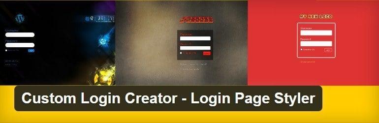 custom login creator