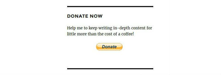 Donate Widget