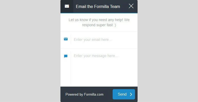Formilla Chat Box Screenshot