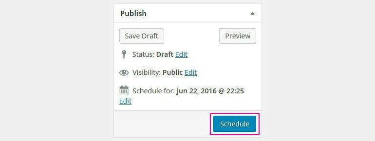 schedule upcoming posts in WordPress