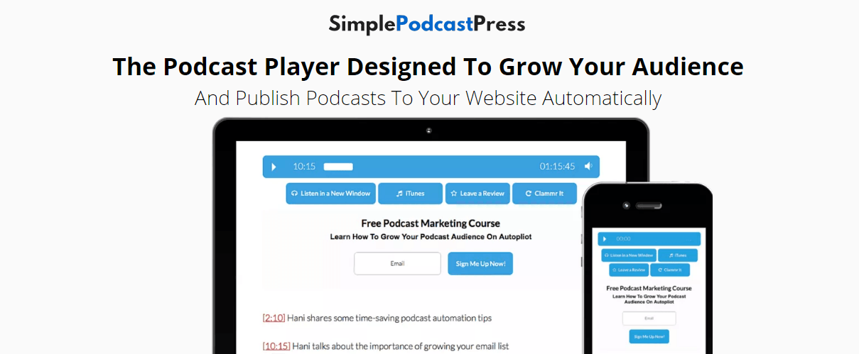 The SimplePodcastPress WordPress Plugin Plugin