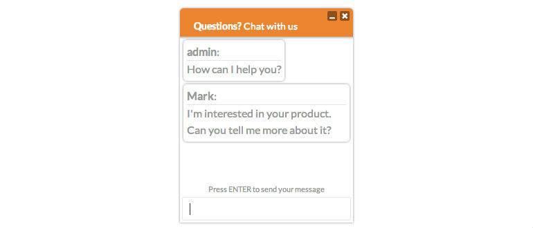 WP Live Chat Screenshot