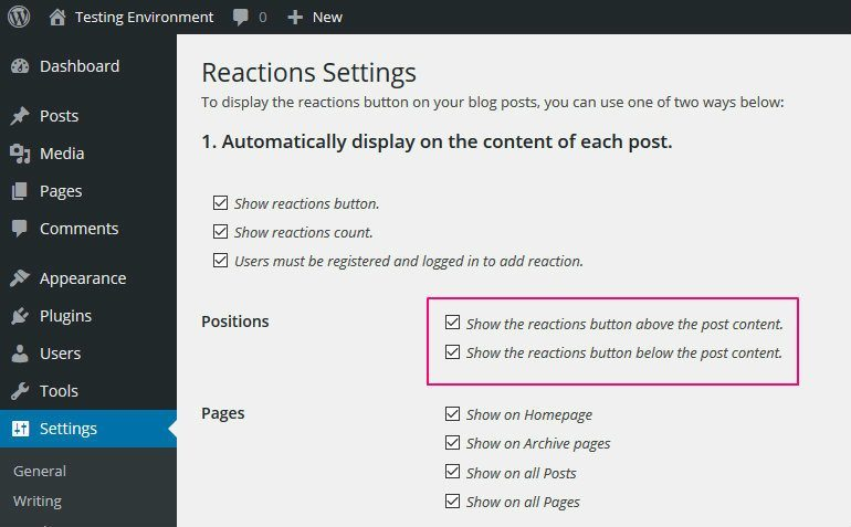 Configuring DW Reactions 2