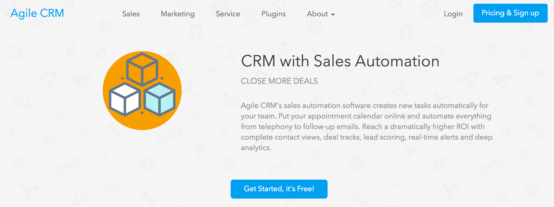 Agile CRM - alternative to WordPress CRM plugins