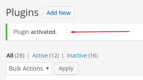 plugin activated
