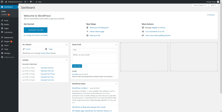 Image optimization in WordPress example - PNG screenshot