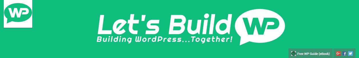 Let's Build WordPress' channel header.