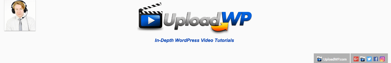 UploadWP's channel header.