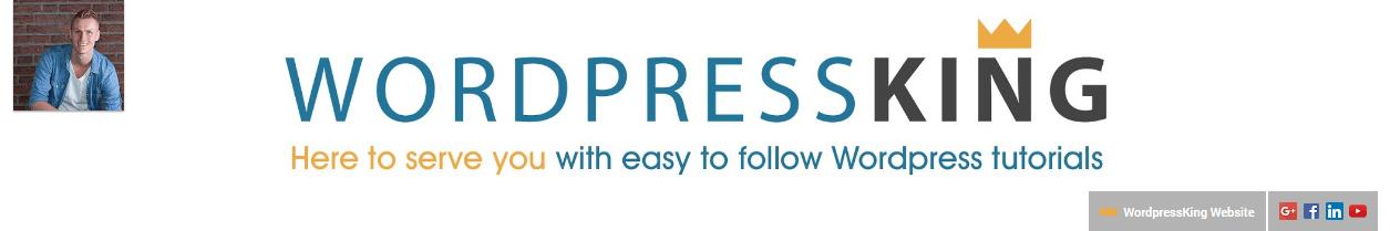 WordPressKing's channel header.