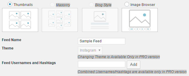 Choosing the style, title, and feeds which will appear on your page.