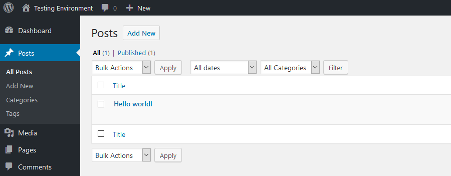 Database Reset Plugin Hello World