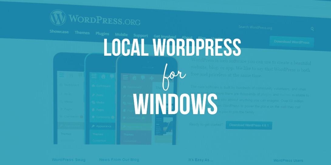 local WordPress testing site for Windows