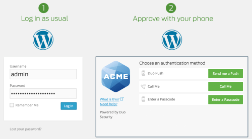 Duo Two-Factor Authentication for WordPress