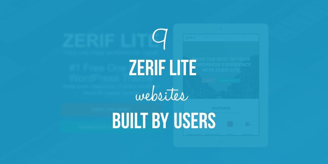 9 ZERIF LITE WEBSITES BUILT BY OUR USERS