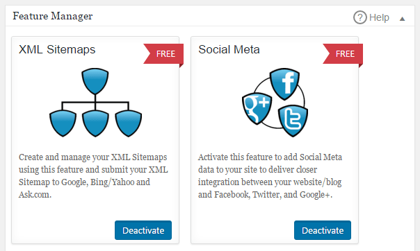 You can enable Open Graph meta data and XML Sitemaps with the feature manager.