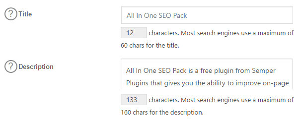 You can create a custom title and description for each post or page.