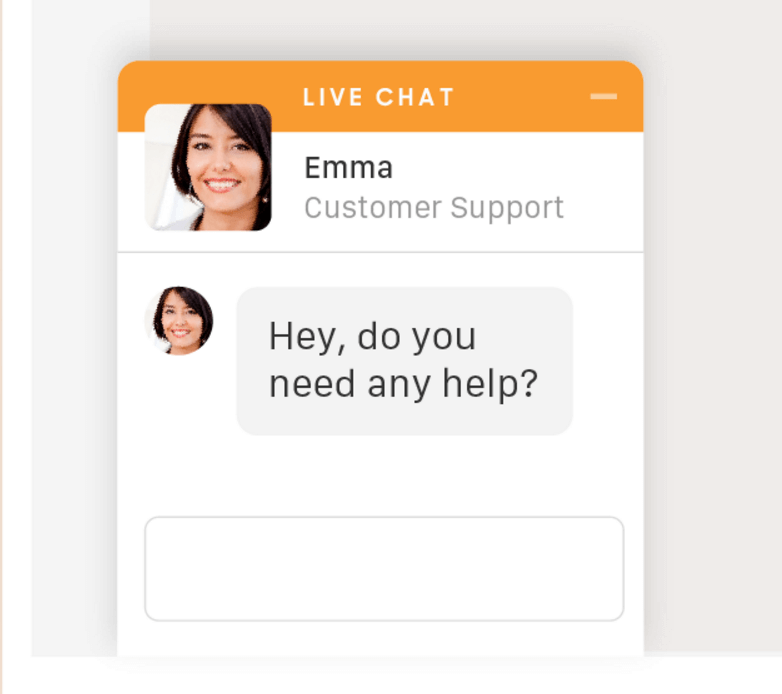 An example of live chat.