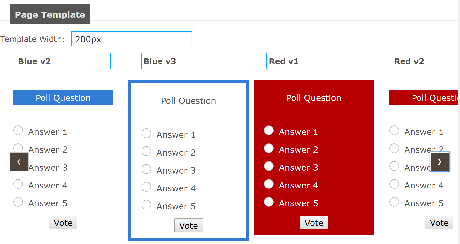 Some poll template examples.