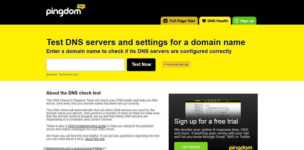 Minimize WordPress downtime: Pingdom DNS Check Test