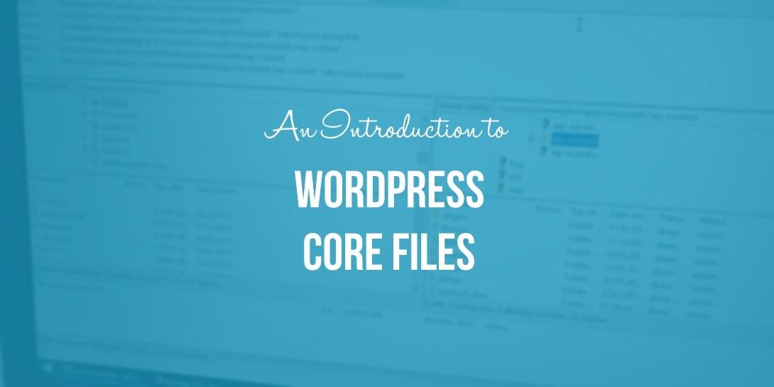 WordPress core files