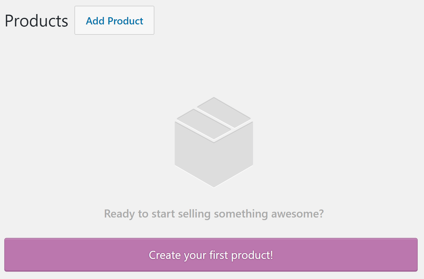 The option to add a new product to WooCommerce.