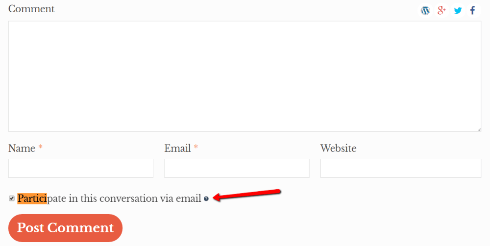 WordPress comments plugins: postmatic