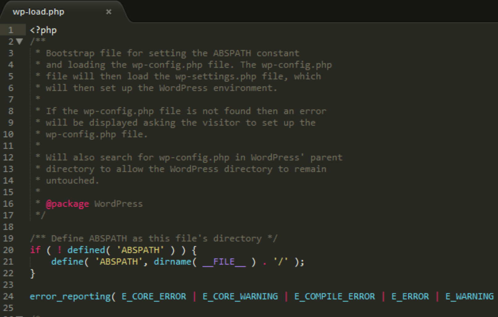 The wp-load.php file.