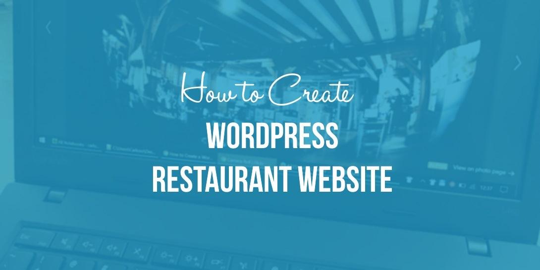 Create a WordPress restaurant website