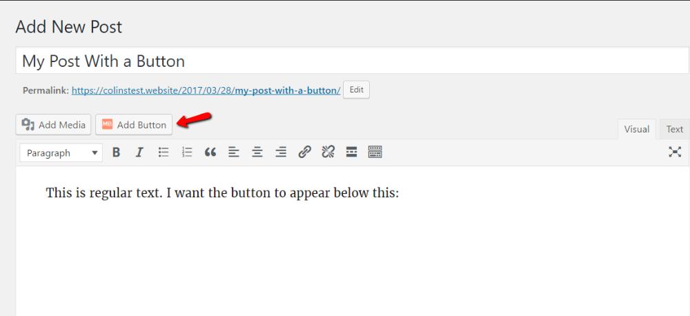 save changes to buttons