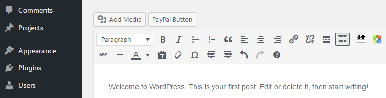 The option to add a PayPal button.