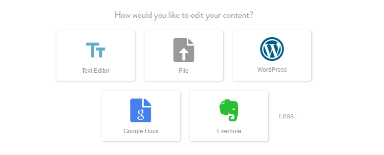 Adding content to your scheduled piece.