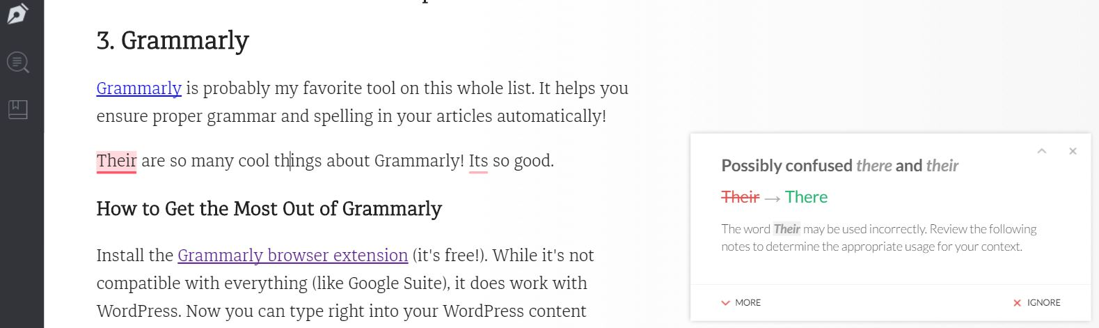 Blogging Tool #3: Grammarly