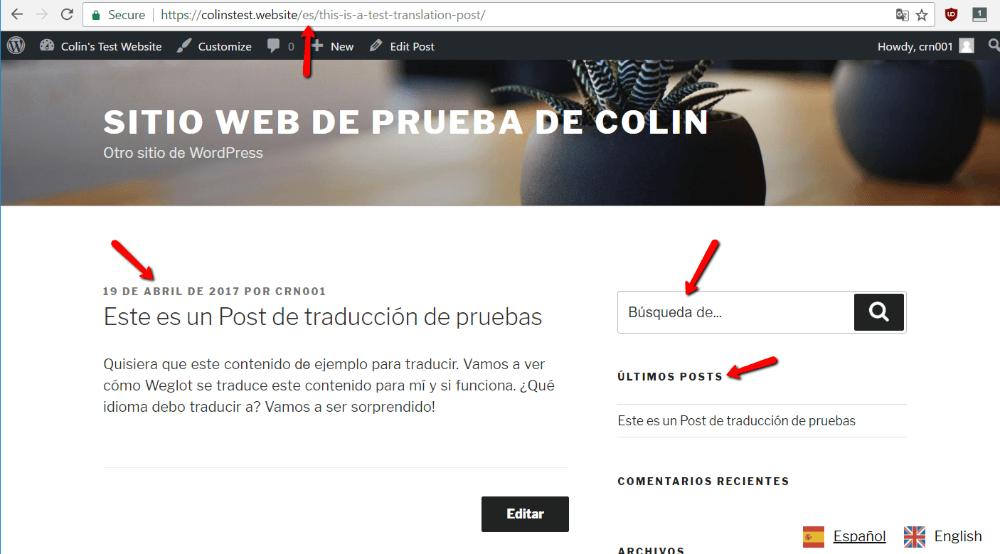 how to automatically translate WordPress with weglot
