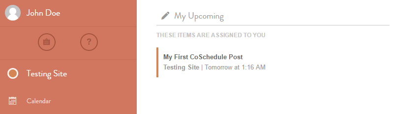 A screenshot from the CoSchedule web app.