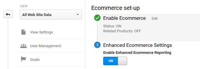 Enabling enhanced e-commerce tracking for WooCommerce.