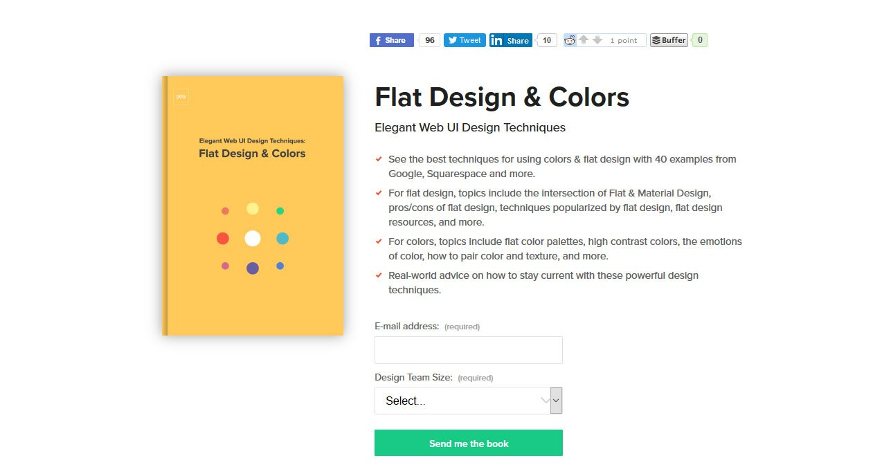 flat design and colors