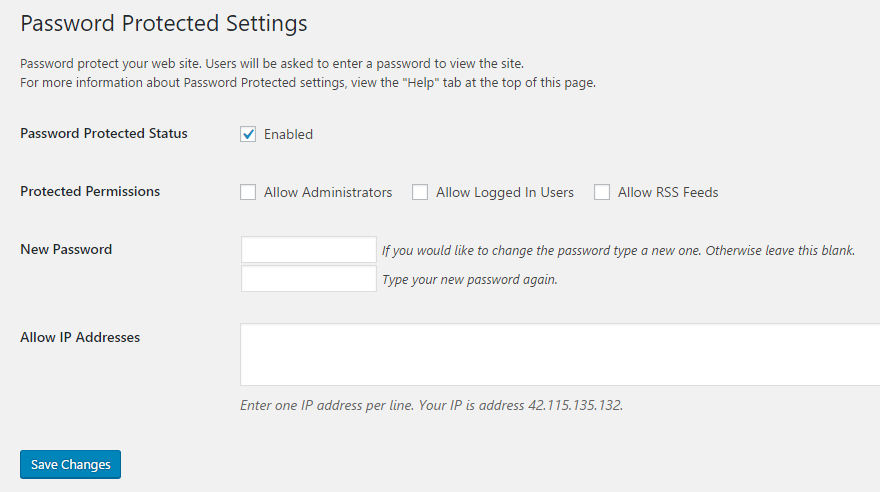 how to password protect entire WordPress site