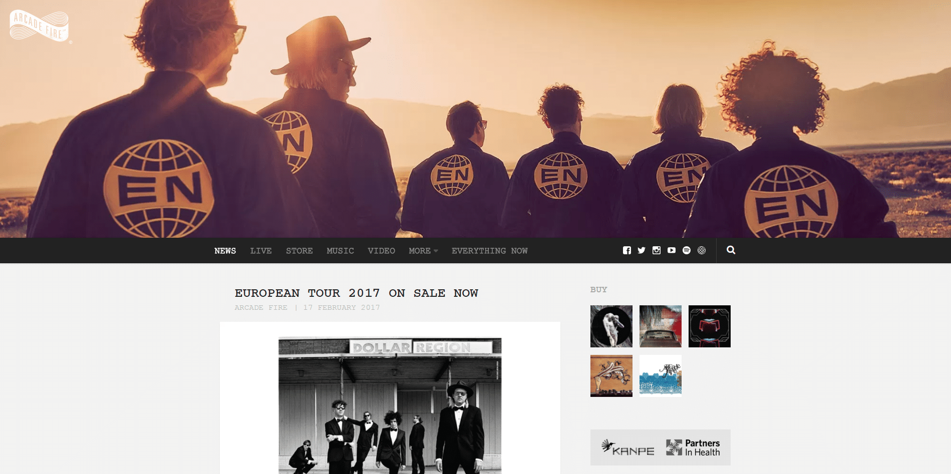 Arcade-Fire-WordPress-Front-Page