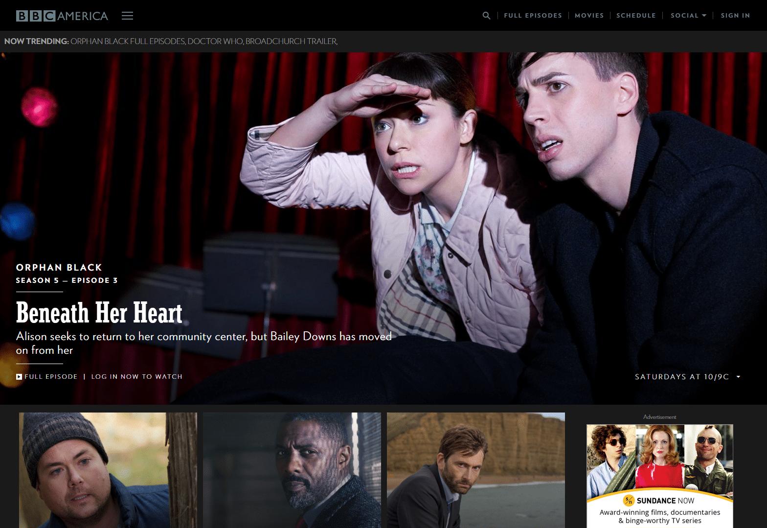 BBC-America-WordPress-Front-Page