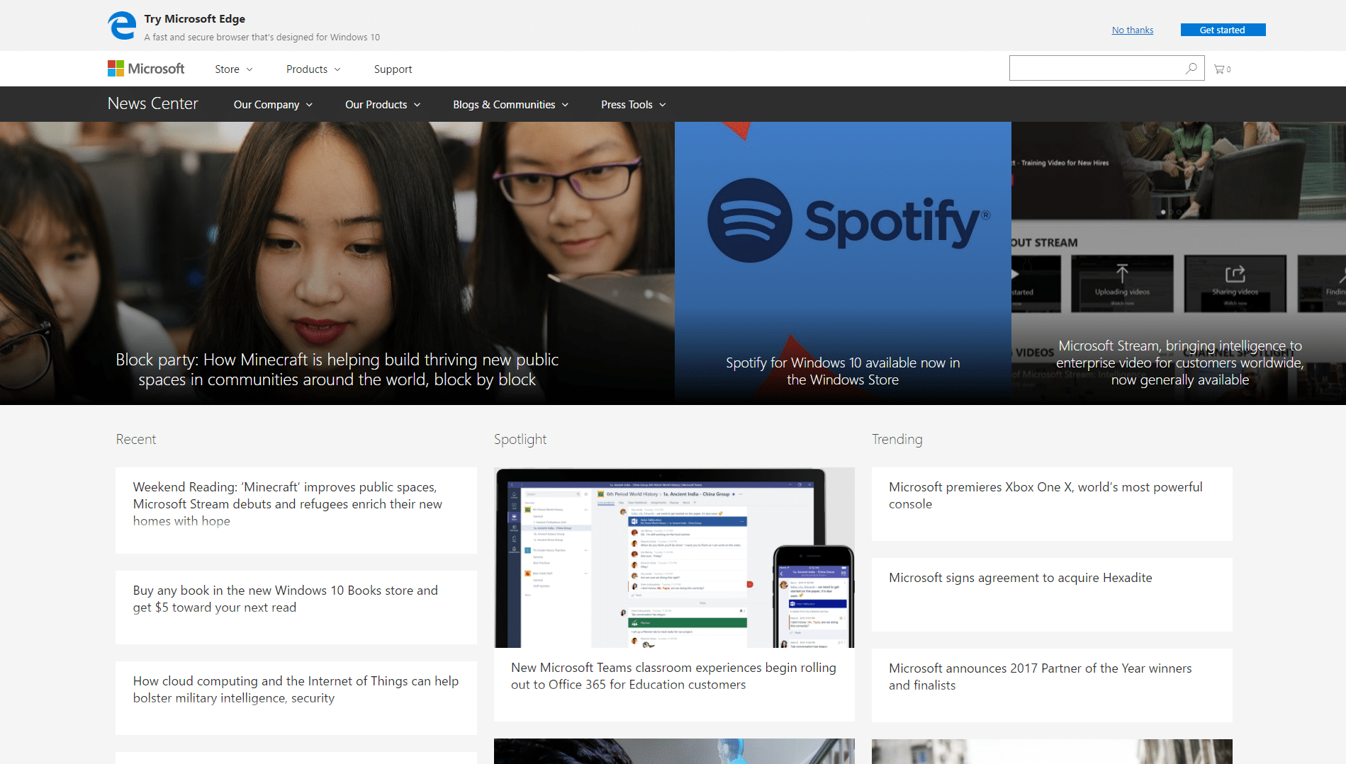 Microsoft-News-WordPress-Front-Page