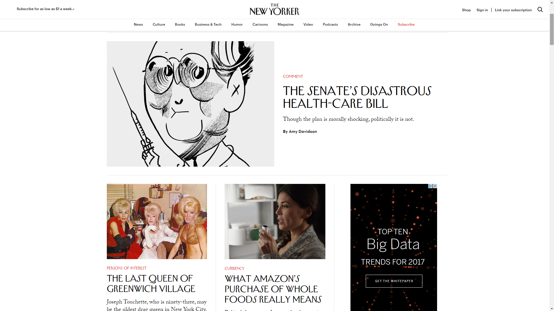 New-Yorker-WordPress-Front-Page