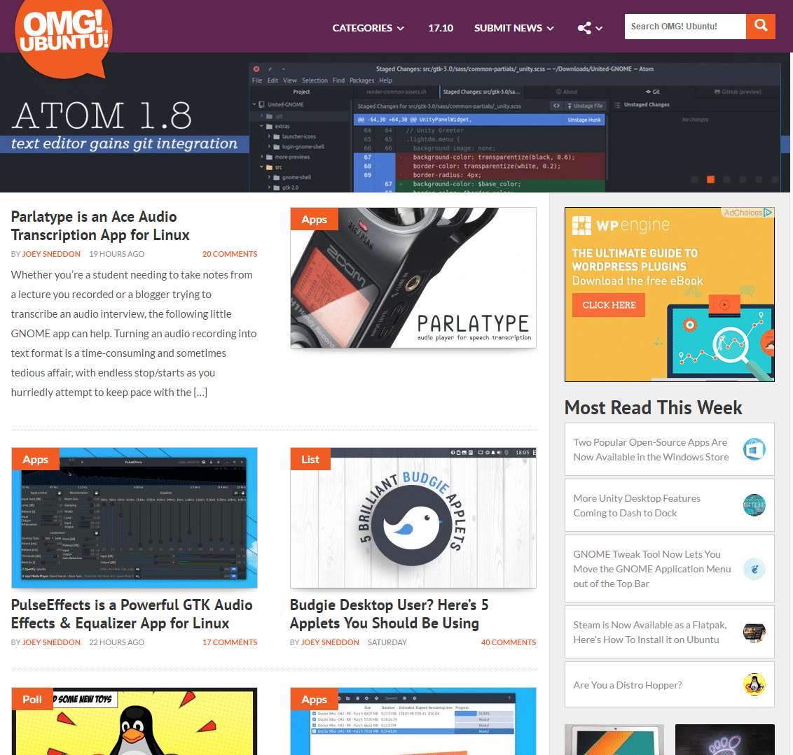 OMGUbuntu-WordPress-Front-Page