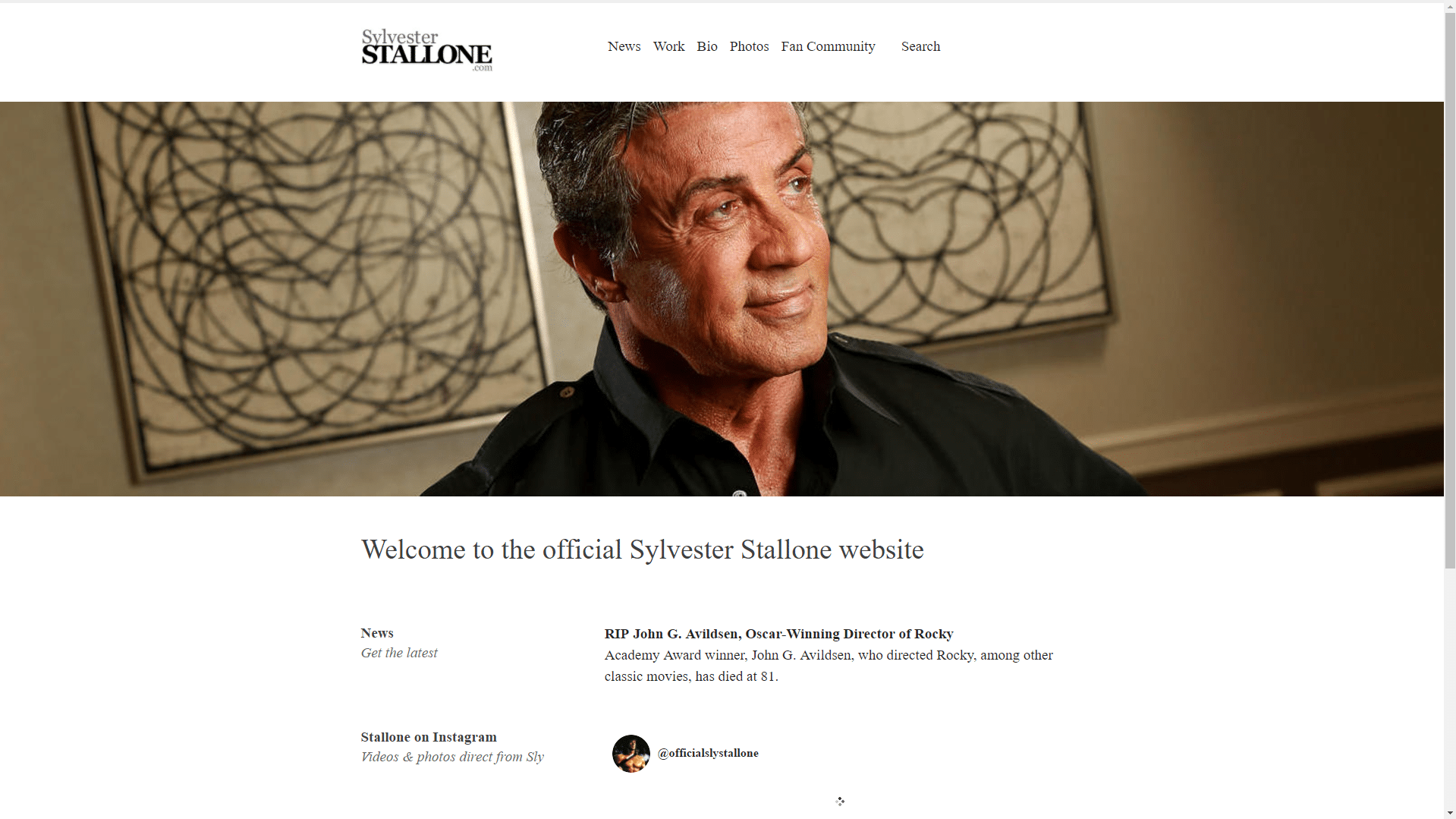Sylvester-Stallone-WordPress-Front-Page