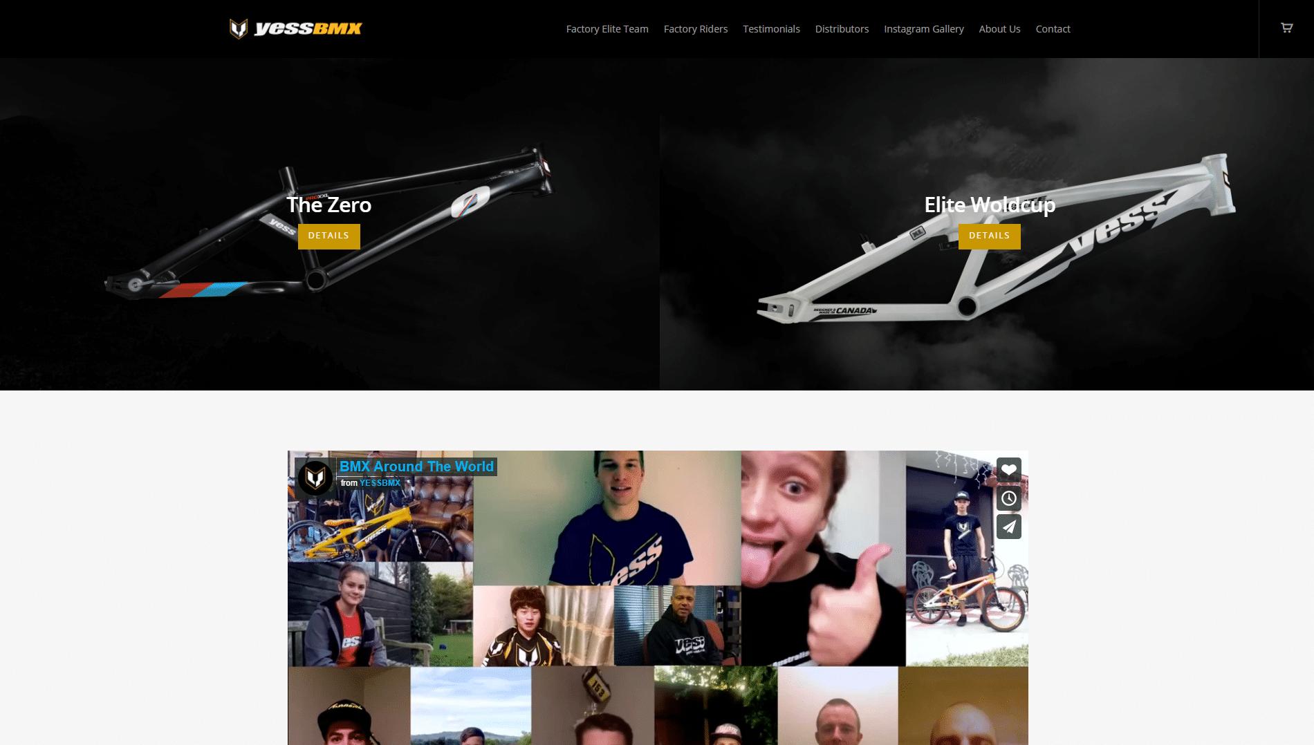 Yess-BMX-WordPress-Front-Page